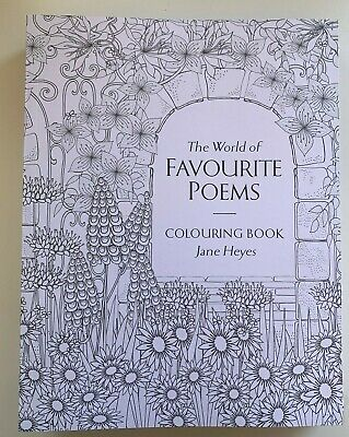 New Adult Colouring Book by Jane Heyes The World of Favorite Poems Timeless