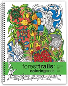 Forest Trails Coloring Book Large Sidebound (8.5 x 11 inches)